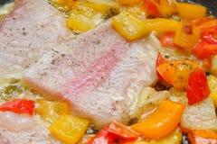 варить перцы рыб Стоковая Фотография