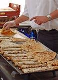 варить пиццу блинчиков Стоковое Изображение RF