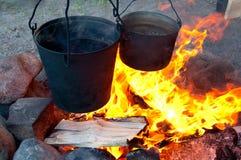 варить пожар Стоковая Фотография RF