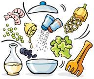 Варить - подготовка салата Стоковая Фотография RF