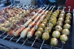 Варить различных kebabs Стоковые Фото