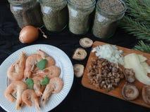 Варить салата креветки стоковая фотография rf