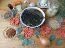 Варить салат морской водоросли с специями стоковое фото rf