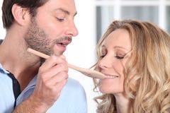Варить супруга забора супруги Стоковое Изображение