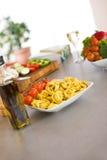 варить томат макаронных изделия итальянского масла еды прованский стоковое фото