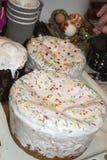 Варить торт пасхи украшения традиционный Стоковые Фото