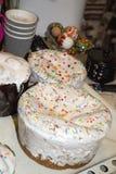 Варить торт пасхи украшения традиционный Стоковое Фото