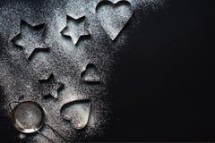 Варить формы на черной предпосылке с болью Стоковые Фото