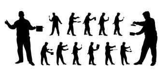 Варить cilhouettes человека Стоковое Фото