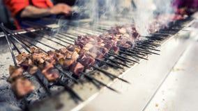Варить kebab гриля баранины shish Стоковая Фотография