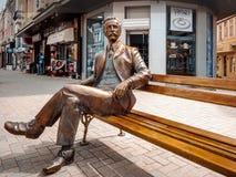 Варна, Болгария, 6-ое апреля 2016: Памятник архитектора Dabko Dabkov официально был раскрыт в центре Варны Стоковая Фотография RF