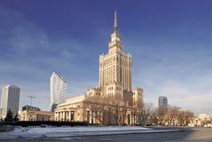 Варшава большинств известный ориентир ориентир - дворец культуры и науки Стоковая Фотография RF