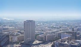 Варшава - 12-ое сентября 2014 взгляд от крыши Стоковая Фотография