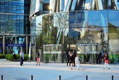 Варшава Польша, 12-ое мая 2016 Шпиль Варшавы Стоковые Фото