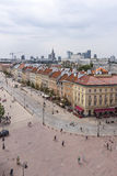 Варшава, улица Krakowskie Przedmiescie Стоковое Изображение RF