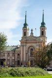 ВАРШАВА, POLAND/EUROPE - 17-ОЕ СЕНТЯБРЯ: Воинский собор в войне стоковое фото