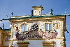 ВАРШАВА, POLAND/EUROPE - 17-ОЕ СЕНТЯБРЯ: Дворец Wilanow в Варшаве стоковое изображение