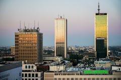 ВАРШАВА, POLAND/EUROPE - 17-ОЕ СЕНТЯБРЯ: Рано утром взгляд над t стоковое изображение