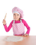 варящ девушку меньшяя пицца Стоковые Фотографии RF