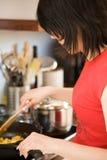 варящ еду здоровую Стоковые Изображения RF