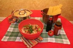 варящ ингридиенты еды итальянские Стоковые Изображения RF