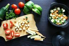 Варящ традиционное блюдо осени - vegetable тушёное мясо Стоковые Фото