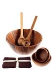варящ tureens ложек салфеток деревянные Стоковые Изображения