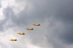 Самолеты Гарварда Стоковое фото RF