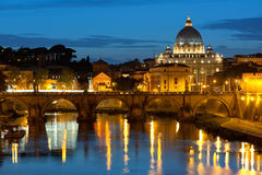 Ватикан на ноче Стоковое Фото