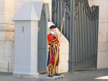 Ватикан, швейцарский гвардеец Стоковое Изображение RF