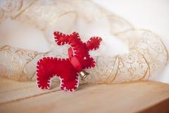 Ватка красных оленей рождества handmade стоковые фото