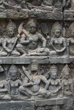 Ватт Angkor - стены руин виска Prohm животиков города кхмера Angkor Wat - заявите памятник стоковая фотография rf
