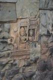 Ватт Angkor - стены руин виска Prohm животиков города кхмера Angkor Wat - заявите памятник стоковые изображения