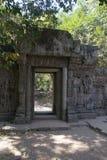 Ватт Angkor - стены руин виска Prohm животиков города кхмера Angkor Wat - заявите памятник стоковое изображение rf