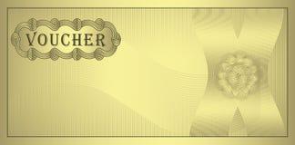 ваучер золота Стоковая Фотография RF
