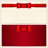 Ваучер, подарочный купон, карточка подарка, талон Стоковое фото RF