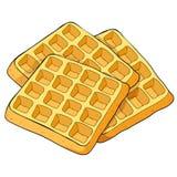Вафли венский квадратный продукт хлебопекарни также вектор иллюстрации притяжки corel Стоковое Изображение RF