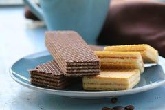Вафли шоколада и ванили Стоковое Изображение