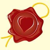 вафля сердца Иллюстрация вектора