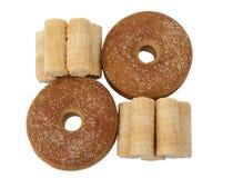 Вафли и печенья на белой предпосылке Стоковое Изображение