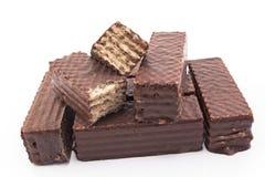 Вафли шоколада изолированные на белизне Стоковые Фотографии RF