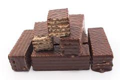 Вафли шоколада изолированные на белизне Стоковая Фотография RF