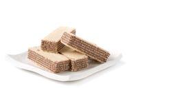 Вафля при изолированный шоколад стоковая фотография rf
