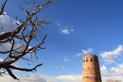 вахта взгляда башни пустыни Стоковая Фотография RF