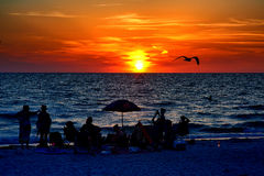 Вахта захода солнца Флориды Стоковые Изображения