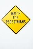 вахта знака пешеходов Стоковое Изображение RF