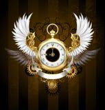 Вахта золота с белыми крылами иллюстрация штока