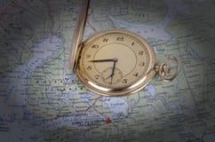 вахта карты старый Стоковое Изображение