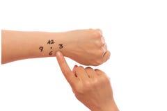 Вахта нарисованный на руке Стоковые Фотографии RF