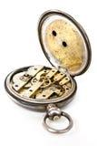вахта швейцарца движения старый карманный серебряный Стоковые Изображения RF